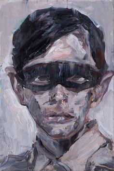 Tomáš Jetela: Bez názvu, 20x30cm, kombinovaná technika na desce Portraits, Painting, Artists, Head Shots, Painting Art, Paintings, Portrait Photography, Painted Canvas, Drawings