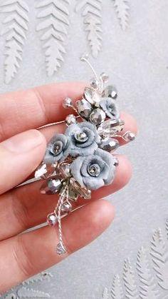 Handmade Wire Jewelry, Earrings Handmade, Beaded Jewelry, Cute Jewelry, Hair Jewelry, Bridal Jewelry, Small Hair Clips, Flower Hair Clips, Bridesmaid Accessories