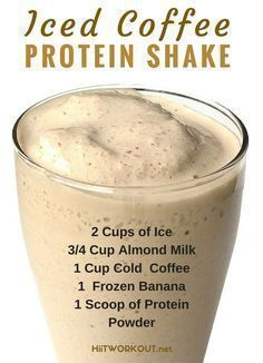 These recipe! It is super filling (holds over until lunch), low in calories, high in protein, and the perfect morning drink and weight loss! (about 115 calories ) healthy drinks Iced Coffee Protein Shake Recipe Smoothie Drinks, Healthy Smoothies, Healthy Drinks, Healthy Eating, Healthy Recipes, Clean Eating, Smoothie Diet, Breakfast Smoothies, Healthy Coffee Smoothie