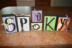 Mod Podge wooden blocks