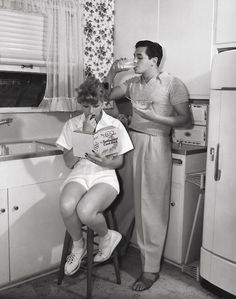 Newlyweds Lucille Ball and Desi Arnaz, 1940s