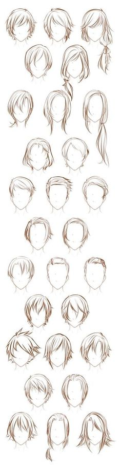 Different types of hairstyles for both men and women. -- Drawing tools, inspiration, creativity, reference sheet, guide, hair, character design Books - English - books for women - http://amzn.to/2luWfCU