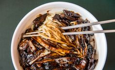 BELTSVILLE, MD - FEBRUARY 17: Noodles with black bean sauce and beef at Da Rae Won.  (Photo by Dixie D. Vereen/For The Washington Post)