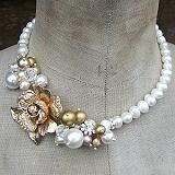 Vintage Corsage Necklace