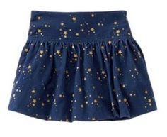NWT NEW Gymboree FLIGHT OF FANCY Cute Sparkly Star Navy Cord Skirt Girl 5 5T #Gymboree #Everyday