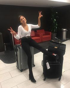 Going home for the holiday - Herren- und Damenmode - Kleidung Winter Travel Outfit, Winter Outfits, Casual Outfits, Cute Outfits, Fashion Outfits, Womens Fashion, Olivia Culpo, Winter Mode, Gina Tricot