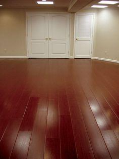 finished basement Mold And Mildew, Wood Vinyl, Wood, Durable, Tile Floor, Vinyl Flooring Basement, Finishing Basement, Basement Flooring, Wood Finish