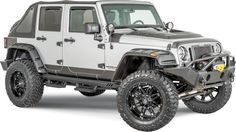 Rampage Products RX Rivet Style Textured Flares with Black Bolts Rampage's RX-Rivet Style™ fender flares are the perfect addition to lifted Jeeps, giving them a bold, unmistakable appearance. Designed for larger tires and wheels