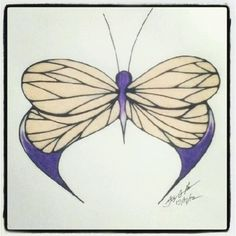 100 Butterflies in 100 Days, Day 17, Medium: Color Pencil