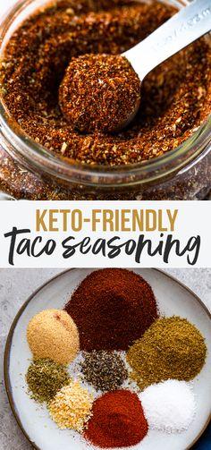 make taco seasoning Keto Taco Seasoning - Keto Meals Taco Seasoning Mix Recipe, Low Carb Taco Seasoning, Chicken Taco Seasoning, Seasoning Mixes, Low Carb Tacos, Homemade Spices, Homemade Seasonings, Taco Mix, Keto Sauces