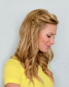 Long beautiful wavy hairstyle with braids