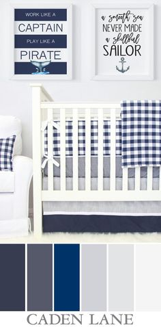 In love with this color palette and nautical theme for a baby boy! <3