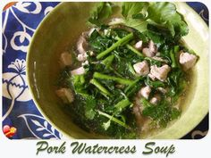 Pork Watercress Soup - ILoveHawaiianFoodRecipes