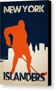 Islanders Canvas Print featuring the photograph New York Islanders by Joe Hamilton