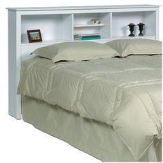 Cool shelf headboard from Target  $133.69  Monterey Headboard For Double/ Queen - White
