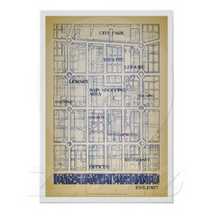 Milton Keynes Central Grid poster