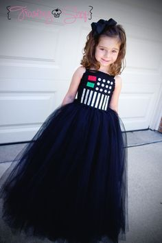 Darth Vader Tutu Dress long by FrostingShop on Etsy