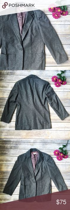 MOVING SALE 🚛 J. Crew Gorgeous Gray Blazer 💙 ★ Excellent condition. Very minor unnoticeable signs of wear. 💕 ★ This beautiful gray women's blazer from J. Crew an absolute must have! Perfect for fall, winter, and your work week chic!  ★ Wool, Viscose, Rayon, Acetate. ★ NO TRADES! 🚫 ★ NO MODELING! 🚫 ★ YES REASONABLE OFFERS! ✅ ★ Measurements available by request and as soon as possible! 💁🏼 J. Crew Jackets & Coats