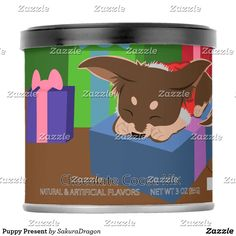 Puppy Present Hot Chocolate Drink Mix #dogs #chihuahua #christmas #pets #animals