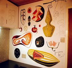 Peter Yates Kitchen Mural. Tynemouth. 1958
