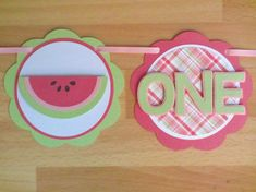 Watermelon Summer Picnic I Am 1 Age Highchair Banner Sign Pink Green
