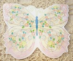"""Carol Wilson Pink Glitter Butterfly Boxed Note Card Set 10 Ct. by Carol Wilson Fine Arts, Inc.. $10.99. Cards fit 4 7/8"""" x 6 1/4"""" Envelope. Pink Glittered Butterfly Boxed Note Card Set 10 Ct.. Beautifully Embossed Die Cut Blank Note Cards.. Great For Gift Giving!. Made In The USA. Beautiful Die Cut Notes Wrapped With A Decorative Band And Packaged In A Coordinating Box, With Clear Acetate Lid."""
