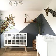Taking our nap on the WILD SIDE in this cute little safari nursery from See original post for details! Jungle Baby Room, Baby Room Boy, Baby Bedroom, Baby Room Decor, Nursery Room, Girl Room, Kids Bedroom, Safari Room Decor, Baby Baby