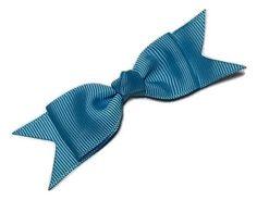 """Turquoise blue 3"""" grosgrain boutique bow tie w/ tails"""
