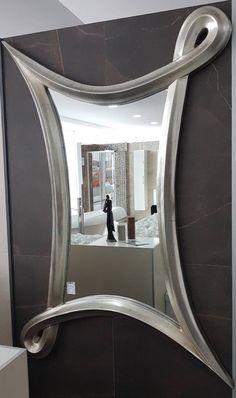 Silver mirror love it Luxury Furniture, Furniture Decor, Furniture Design, Luxury Interior Design, Interior Decorating, Home Engineering, Beautiful Mirrors, Modern Ceiling, Mirror Art