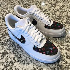 best service a7603 201cc Items similar to Custom Nike Air Force 1 Low  Black Multi L0U on Etsy