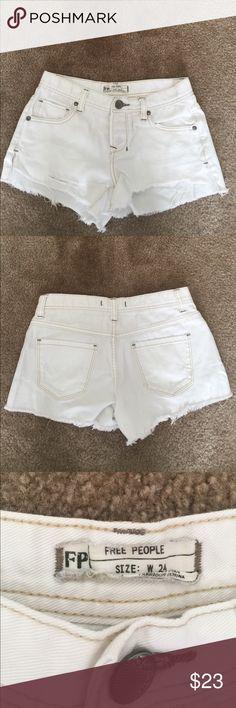 Free People White Denim Shorts White Free People Denim Shorts Free People Shorts Jean Shorts