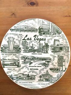 Vintage Las Vegas souvenir plate Stardust Nevada state