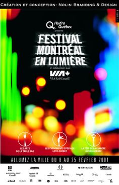 By Nolin Branding & Design, Festival  Montréal en Lumière 2001.