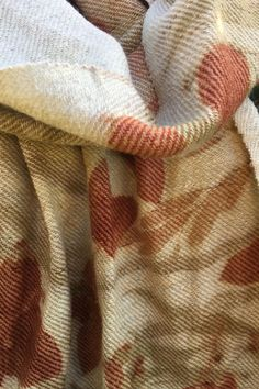 Noil silk and wool, twill weave, delicately soft scarf. luscious leaves of E.cinerea , E. nicolii, E.meliadora, Grevillia robusta, and a fern from the Byron Hinterland subtropical rainforest. Also Casurina. Email me if you would like to buy one like this susan.fellmclean@gmail.com ... #5770 Shibori Techniques, The Byron, Weaving, Reusable Tote Bags, Textiles, Wool, Fern, Shawls, Scarves