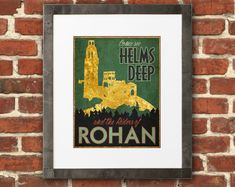 8 x 10 Helms Deep LOTR Travel Poster  Tolkien inspired by PasspArt, $12.00