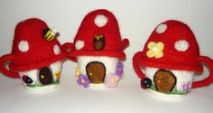 Custom Wee Dwelling gnome or fairy home mushroom by FeltFusion, $30.00