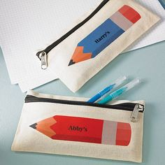 personalised coloured pencil case by 3 blonde bears | notonthehighstreet.com