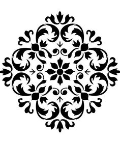 Versailles ornament Nordic Chic Stencil – T-Shirts & Sweaters Mandala Stencils, Stencil Patterns, Stencil Painting, Stencil Designs, Paint Designs, Stenciling, Tile Stencils, Damask Stencil, Machine Silhouette Portrait