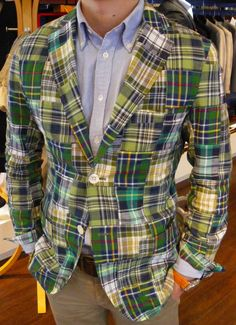 Yes summer is over with but I want this geten patchwork madras jacket for next year!