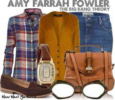 Inspired by Mayim Bialik as Amy Farrah Fowler on The Big Bang Theory.