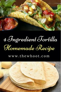 Tortilla Homemade Recipe Easy Video 4 Ingredients