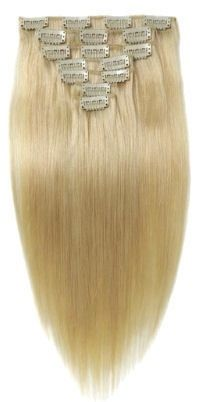 Clip in extension set blond #613 / 120 gram / 50 cm