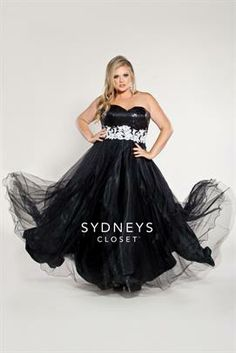Plus Size Plus Size Ball Gown Sequin Bodice image