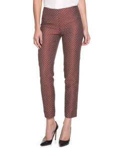 Paperwhite Red Multicolor Print Ankle Pant is on Rue. Shop it now.