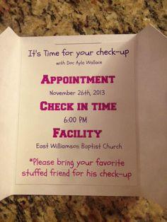 Doc McStuffins Party invitation handmade by SocialButterflies98, $1.50
