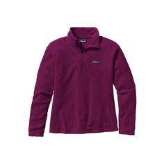 Women's Patagonia Micro D 1/4 Zip - Violet Red Pullovers ($69) ❤ liked on Polyvore featuring patagonia