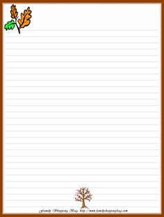Lined Pages For Writing  Printable Lined Paper With Borders     A to Z Printables   A to Z Teacher Stuff