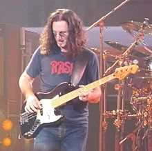 Geddy Lee of Rush in concert, 2010 Classic Rock Bands, Greatest Rock Bands, Rush Geddy Lee, Rush Concert, Rush Band, Alex Lifeson, Neil Peart, Canadian Boys, I Love Music