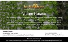 If you are looking for the best growing facilities, then waste no time further and join hands with Vertical Growing, as your only mechanism, around here.