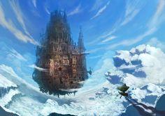 Floating Castle by breaktim.deviantart.com on @deviantART